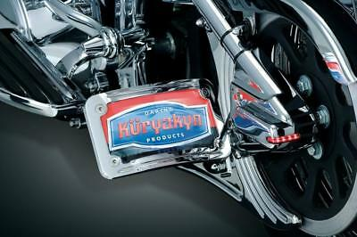 Kuryakyn Mount Clamps for Side Mount License Holders, Chrome 91-05 DYNA MODELS