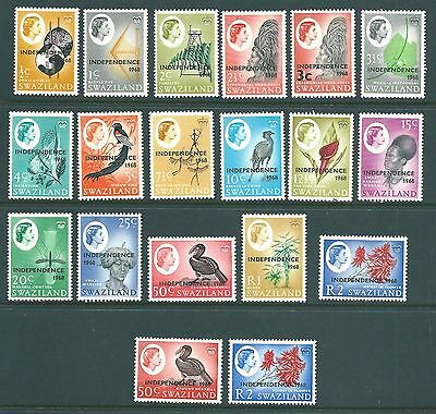 SWAZILAND - 1968 MNH QE2 Independence set to 2 Rupees