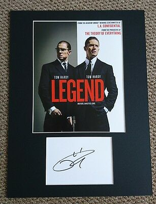 Tom Hardy Legend The Krays signed 16x12 card display AFTAL PROOF