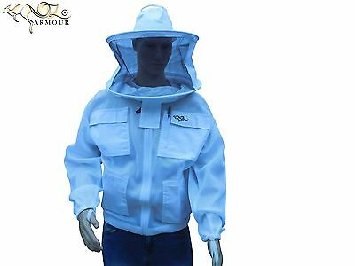 "Beekeeping Jacket ""oz Armour"" Ventilated Double Layer Mesh Round/brim Hat Veil"