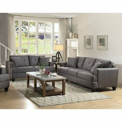 Fine Coaster Chaviano 2 Piece Tufted Sofa Set In White Alphanode Cool Chair Designs And Ideas Alphanodeonline