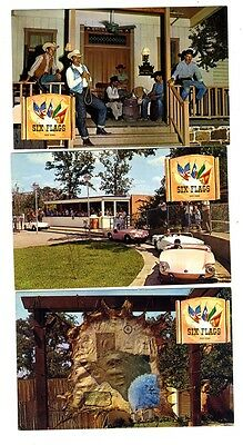 5 Six Flags Over Texas Postcards US Texas & Southern Sections