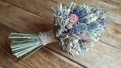 Dried Flower Wedding Bouquet by Florence and Flowers Scottish Thistles, Bridal