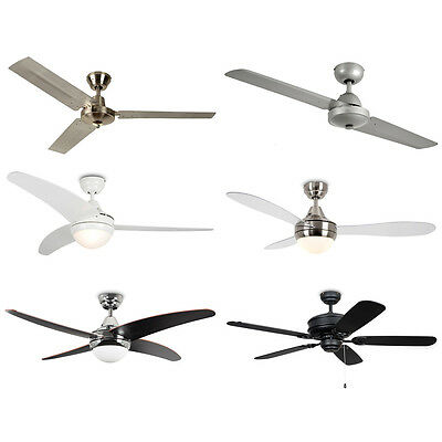Modern Large 48 & 52 Inch Ceiling Fan Cooling System with Light Remote Control