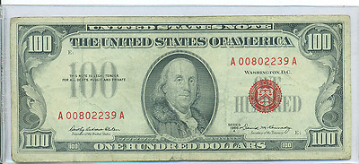 1966 A $100 Red Seal United States Note