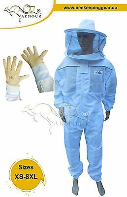 "Beekeeping Suit  ""oz Armour"" Ventilated  Round/brim Hat  Veil"