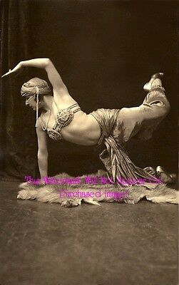 Old VINTAGE Antique Simply GORGEOUS BELLY DANCER 5 Photo Reprint