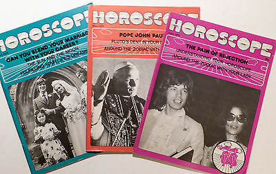 3 x Vintage HOROSCOPE Magazine 1979 April, May & June.