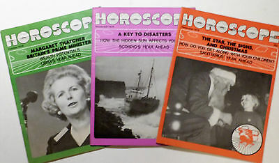 3 x Vintage HOROSCOPE Magazine 1979 October, Nov & December.
