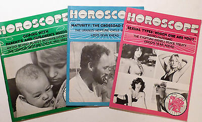3 x Vintage HOROSCOPE Magazine 1979 July, August & Sept.