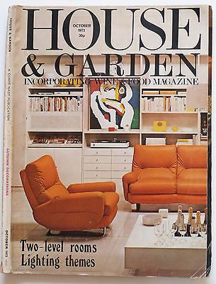 Vintage House & Garden incorporating wine & food Magazine October 1973.
