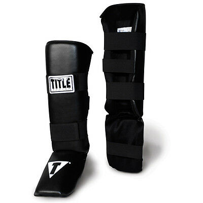 Title MMA Vinyl Shin Instep Guards-Child