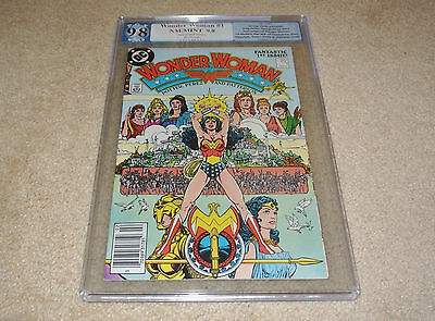 Pgx 9.8 Wonder Woman #1 New Origin + 1St App. Of Themyscira **white Pages** 1987