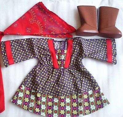 New American Girl - Julie's Calico Dress Set for Dolls Size