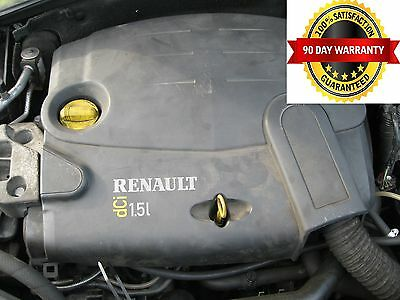 RENAULT CLIO 1.5 DCI ENGINE CODE K9K704  WITH INJECTORS AND PUMP 2001 to 2006