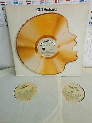Cliff Richard - 40 Golden Greats. UK EMI 2-LP Ex!