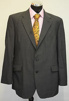 """Ms735 Mens Mark&Spencer Grey 100% Wool 2Pc Suit Chest 46"""" Waist 40"""" Length 29"""