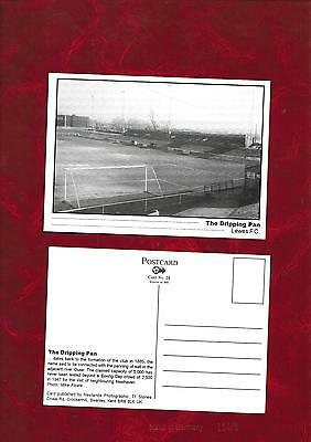 Postcard Lewes FC The Dripping Pan ground by Newlands Photographic card no 28