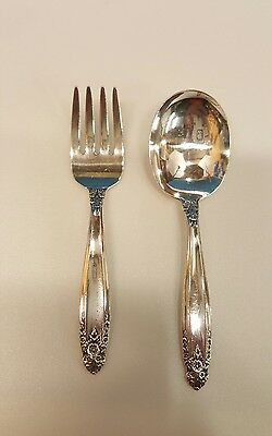 "International Prelude Sterling Silver Baby 4"" Fork and 4 1/4"" Spoon Set"