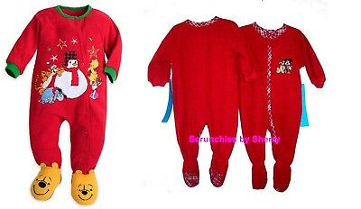 Disney Store Mickey Pluto Blanket Sleeper Outfit Christmas Holiday Fleece Red
