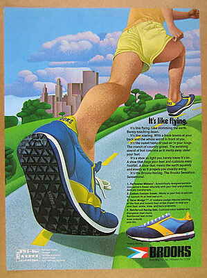 1979 Brooks VANTAGE Running Shoes runner illustration art vintage print Ad
