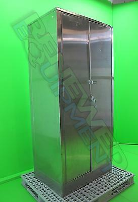 "Stainless Steel Supply Storage Cabinet L 25"" x W 36"" x H 78"" #3"