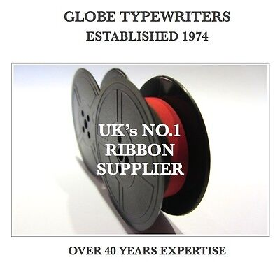 1 x UNDERWOOD 10 *BLACK/RED* TOP QUALITY *10M* TYPEWRITER RIBBON TWIN SPOOL *R/W