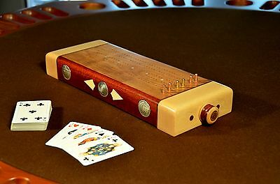 Artisan Cribbage Board - One-Of-A-Kind - 3 Street With Inlay Work