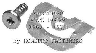 FITS CHEVY EL CAMINO 68-72  BACK GLASS REVEAL CLIPS 20