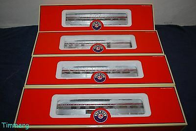 Lionel 6-20005 Southern Pacific Sunset Aluminum Limited 4 Pack Pass Car MIB **