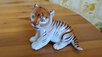 Porcelain Lomonosov Tiger Cub Russian USSR ornament