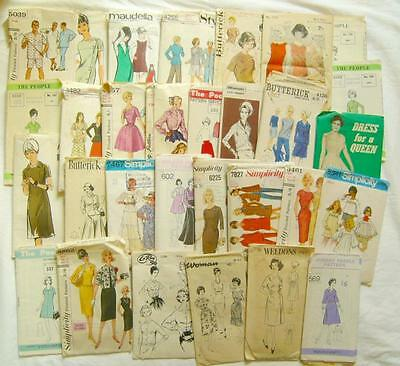 Job Lot 30 VINTAGE SEWING PATTERNS 1950s 60s 70s ALL CHECKED Womens +1 Mans