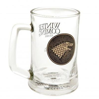Game Of Thrones Glass Tankard Stark Official Merchandise
