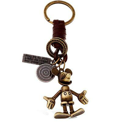 Disney Mickey Mouse Leather Keychain Vintage - NEW