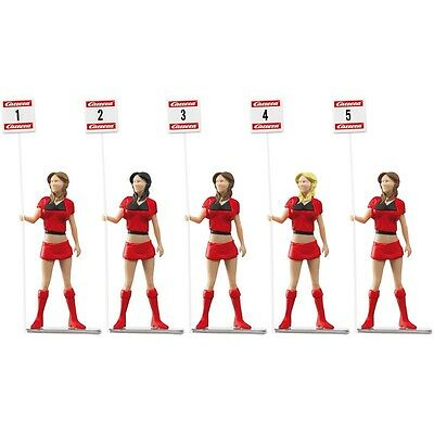 Carrera Evolution & Digital 132 Grid Girls with Start Position Signs (5 pieces)