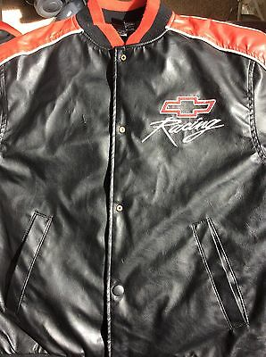 Vintage Size Youth Large (10-12)Steve & Barry's Vinyl Chevy Racing Jacket