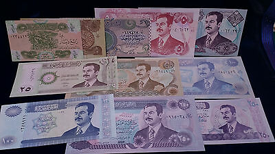 Iraq/ Iraqi UNCIRCULATED SADDAM HUSSEIN PAPER MONEY/ BANK NOTES *11 BILLS TOTAL*