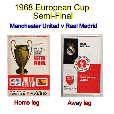 1968 European Cup semi - final Manchester United v Real Madrid (Ex Con)