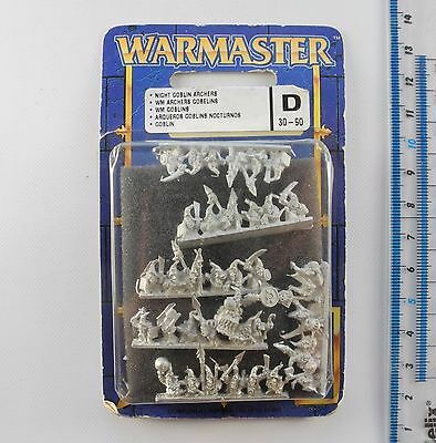Warmaster NIGHT GOBLIN ARCHERS Metal Orcs & Goblins Army Blister Pack 1999 K290