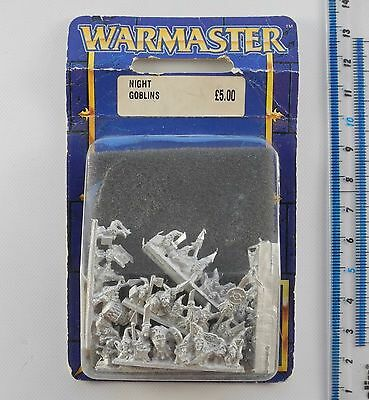 Warmaster NIGHT GOBLINS (a) Metal Orcs & Goblin Army Blister Pack 1999 K291