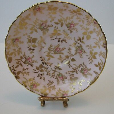Royal Tuscan English Bone China SUNSHINE Teacup Saucer only Pink Rosebud Chintz