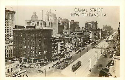 Louisiana, LA, New Orleans, Canal Street Real Photo Postcard