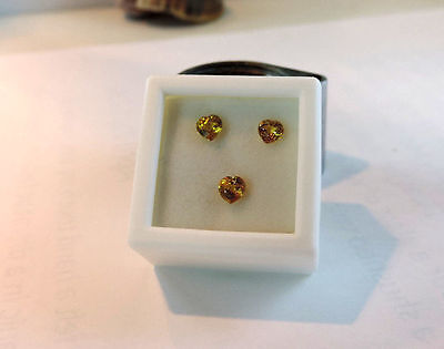3pc Dry Cottonwood Creek Montana Natural Yellow Sapphires. Cut by me :) 1.20tcw