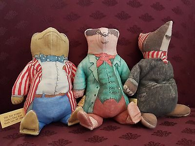 Vintage (1980s) ORIGINAL Wind in the Willows Plush Bean Bag Doll Characters