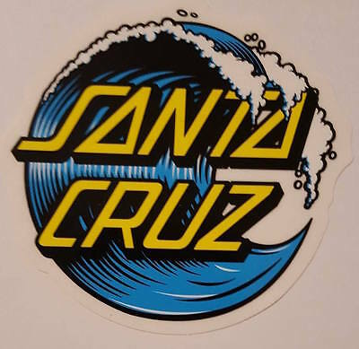 *** Santa Cruz Skateboards - Skateboard Sticker - Wave Dot - ca.8cm ***