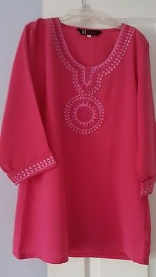 Eid 2 piece muslim  outfit  shirt and pant for 5 and 6 girls