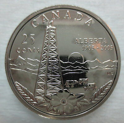 2005P Canada 25 Cents Alberta Centennial Quarter Proof-Like Coin