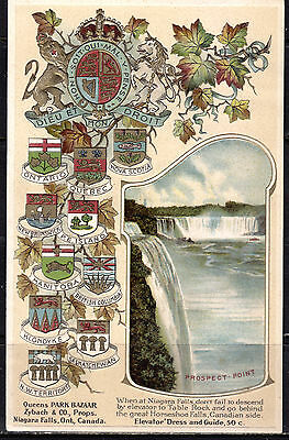 Niagara Falls, ON, Prospect Point, Canada & Provincial Crests, Embossed, No. 200