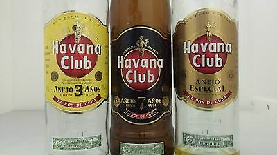 Flight of Havana Club Rum Bottles