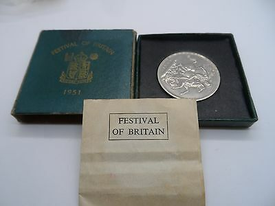 1951 George VI Boxed Festival Of Britain Crown Coin & Leaflet   No Reserve